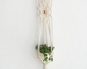 Macrame wall hanging basket 66 cm / macrame wall Planthanger 26 '