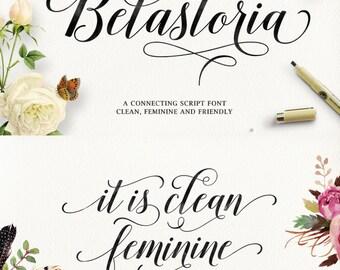 Belastoria Script, Modern Calligraphy Font, Handwritten Font, Modern Font, Contemporary Calligraphy Font, Clean Font, Digital Font Download