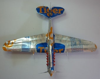 Soda cans handmade aircraft model