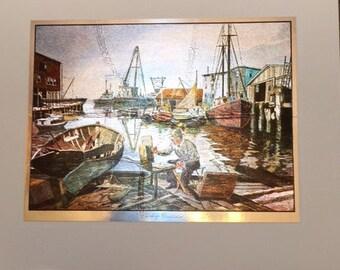 Lionel Barrymore Color Etch Prints