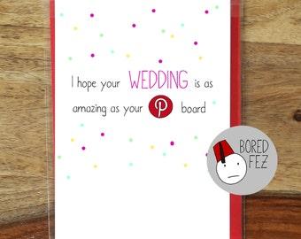 Pinterest Wedding Card | Funny, Sarcastic, Wedding Card