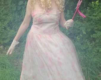 Fairy Dress, 4-Piece Costume, 1980's Prom Dress, Pretty in Pink, Glenda, Tooth Fairy, Vintage Size 11/12