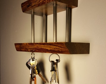 Rustic Oak Key Hanger
