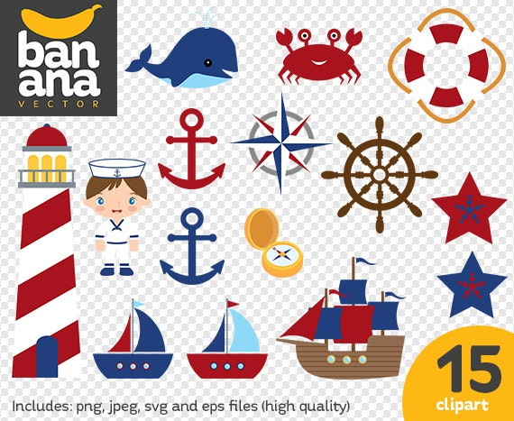 sale nautical clipart png jpg svg eps files high
