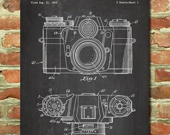 Camera Gift for Photographer Gift Idea, Camera Print, Photography Wall Art, Photography Student, Apartment Decor, Camera Patent Poster P084