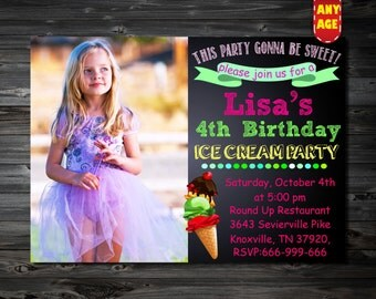Ice Cream Birthday Invitation,Ice Cream Party Invitation,Ice Cream Party,Ice Cream Social,Ice Cream Invitation,1st,2nd,3rd,4th Birtday