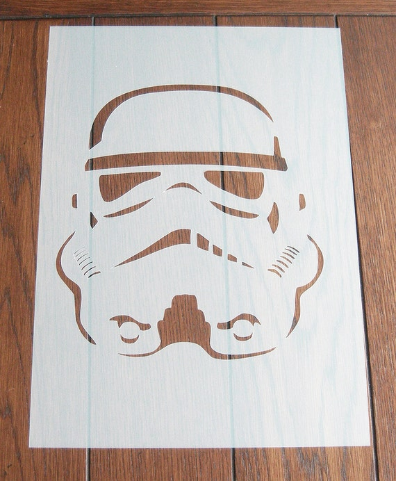Stormtrooper stencil mask reusable mylar sheet for arts for Arts and crafts stencils craftsman