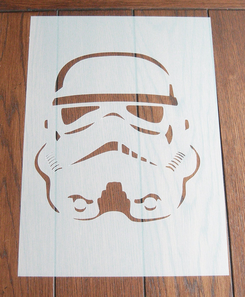 Pochoir de stormtrooper masque r utilisable mylar feuille pour - Pochoir star wars ...