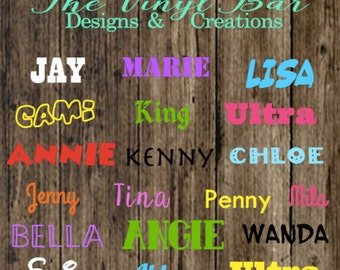 Sale Custom Vinyl Name Decal Different Option to choose