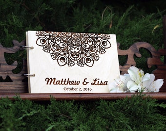 Wedding Guest Book Guest book Rustic Guest Book Custom Guest Book Guestbook Custom Wedding Album Alternative Guestbook Just Married Book