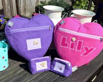 heart backpacks