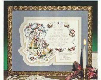 Wedding Cross Stitch 1 CORINTHIANS 13 WEDDING BELLS Cross Stitch Pattern w/ Spec Threads and Charm - Stoney Creek Wedding Announcement