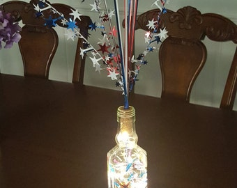 Fireworks in a Bottle, Upcycled Wine Bottle