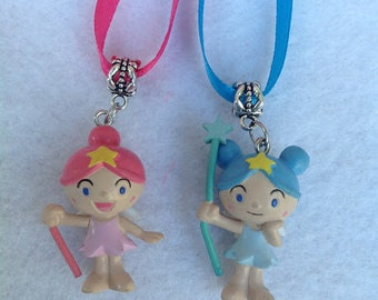 12 - Dozen Fairy dolls necklaces party Favors