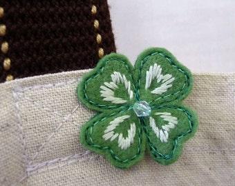 clover pin badge