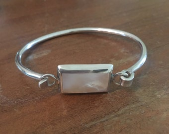 Sterling silver & mother of pearl bracelet