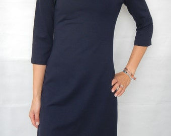 Jersey dress, sheath dress, transitional dress, autumn dress