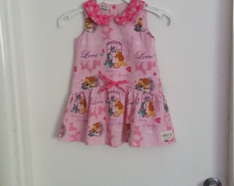 Lady and the Tramp Pink Girl's Dress, Size 3