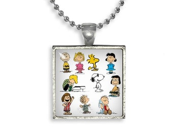 Peanuts Snoopy Characters  Necklace Pendant Snoopy Linus Fandom Jewelry Cosplay Fangirl Fanboy