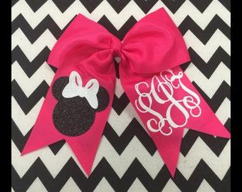 Monogramed Disney Bow