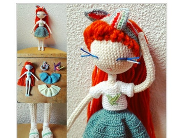 Paulette - Crochet doll pattern
