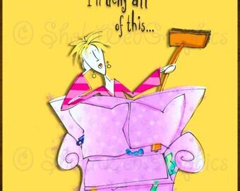 Joy of Housework - Rich & Famous A4 Sheet (PU,S4H) Scrapbook