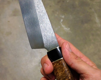 "Hand forged 8"" chef knife"