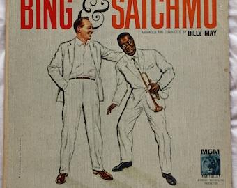 Bing Crosby Louis Armstrong Bing & SATCHMO 1960 MGM E3882P Mono LP