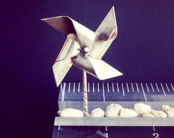 handmade silver pinwheel brooch