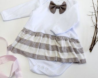 Chocolate Milk Skirt Keepsake Bodysuit Embroidery Name