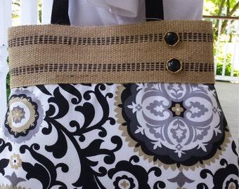 Handmade Purse Handbag Pocketbook  With Asymetrical Button Detail  by BEEDZnBAGZ