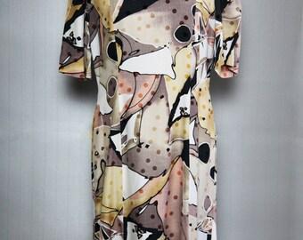 Dress light patchwork of colors + pea