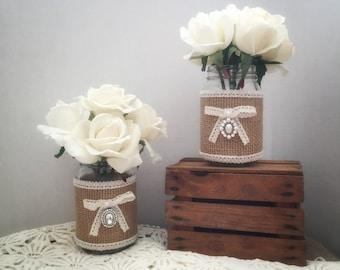 Mason Jars-Set of 2-Wedding Decorations