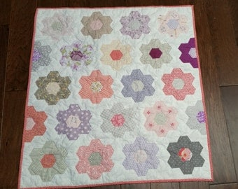 Hexagon baby quilt kit