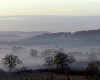 Castle Howard, Misty Morning, Blank Greeting Card, Ryedale Wildlife Photography, The Ryedale Snapographer