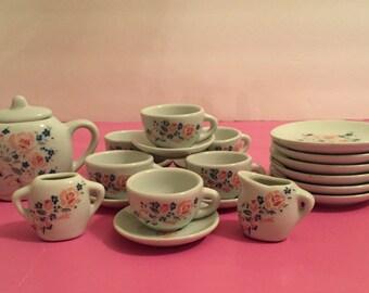 girls china tea set etsy. Black Bedroom Furniture Sets. Home Design Ideas