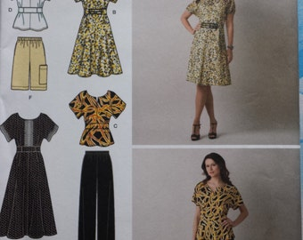 Simplicity 2615 10-18 Dress, Top, Trousers and Shorts
