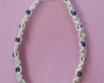 Anklet with multi colored beads
