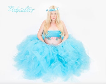 Full length maternity tutu with matching wrap top. Uk seller photography prop, maternity, photography prop, prop