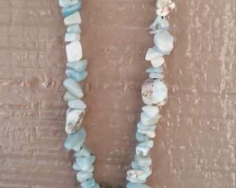 Turquoise and Larimar necklace