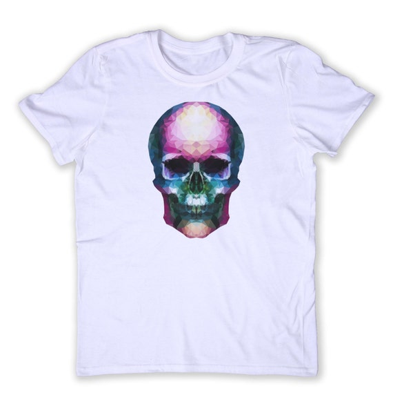 Geometric Skull Tee Hipster Alternative Punk Grunge Human
