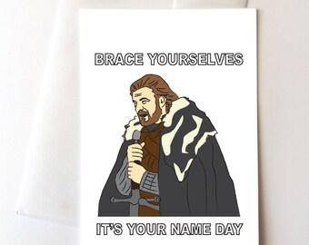 Ned Stark Happy Birthday Card Game of Thrones