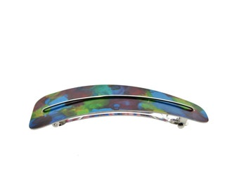 Multi coloured hair clip, anodized aluminum