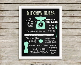 Kitchen Rules - Print