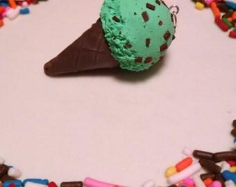 Mint chocolate chip Ice cream charm