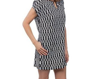 Monogrammed shift dress/cover up