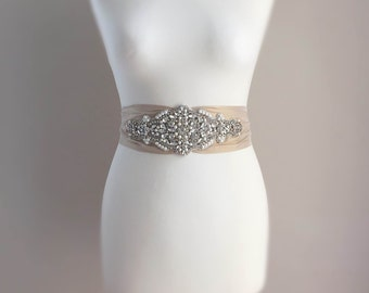 Cordelia Silk Bridal Sash - Wedding Dress Belt - Bridal Gown Belt - Wedding Accessories