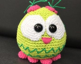 Crochet pattern owl English