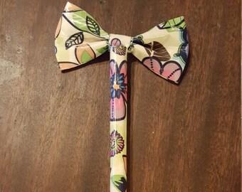 Flower Duct Tape Bow Pen