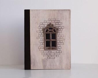 А4 A5 Wood Photoalbum Juliet Window Photo Book Album with Wood Wooden Cover Empty Sweet Remembrancer  Photoalbum Photobook